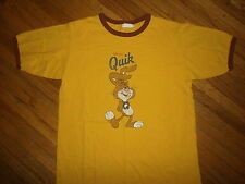 NESTLE QUIK T SHIRT Chocolate Milk Rabbit Bunny Nesquik Retro Ringer Throwback
