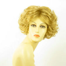 short wig women curly golden blond REF LADY 24B PERUK