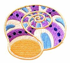 Sea Shell Iron On Patch- Ocean Sealife Embroidered Badge Applique Crafts