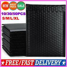 10/30/50PCS Large Bubble Mailers Padded Envelopes Self Seal Black Shipping Bags