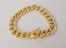 "New 10Kt Mens Yellow Gold Miami Cuban Link Bracelet 12mm 9"" inch 12 MM 28 Grams"