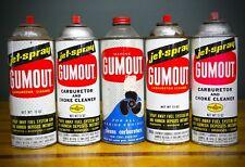 5 Vintage Gumout Carburetor Cleaner Marine Engines Propeller Cans Gas Station