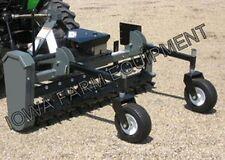 "Worksaver PTC-625 Tractor 3-Point PTO Power Rake, 72"" Working Width, Hyd Angle!"