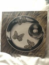 "Towle Papillion Collection Chip Dip Tray Platter Shell Butterfly Inlay 13"" New"