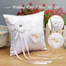 "8"" Heart Shape Bridal Wedding Party Flower Girl Cushion Ring Bearer Pillow"