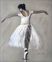 Ballerina Dancing, Quality Hand  Painted Oil Painting 20x24in