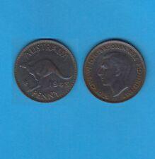 § Australie  Australia  Bronze Coin Georges VI One  Penny Bronze 1943