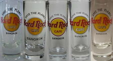 "Hard Rock Cafe BANGKOK 4"" SHOT GLASS Set of 5 ""STP"" Save The Planet HRC Logo"