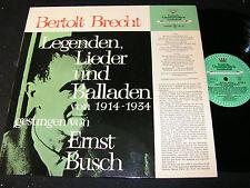 ERNST BUSCH Brecht Legenden.../ German Mono LP 1966 DEUTSCHE GRAMMOPHON 44028