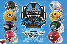 DALLAS COWBOYS 2020 GOLD RUSH AUTOGRAPHED FULL SIZE HELMET 1BOX Break