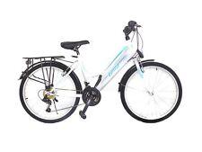 "26 zoll Damen Fahrrad Mädchenfahrrad 26""Damen Cityfahrrad city bike Weiss türkis"