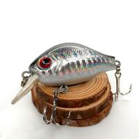"""Pro Series Shallow Diving 3/"""" Square Bill Crankbait With Rattles 1-5 ft"""