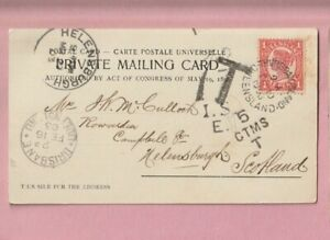 Australia, Queensland, Thursday Island, to Helensburgh Manila 1d to-pay Postmark