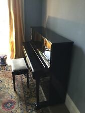 More details for black yamaha v118n upright piano used good condition