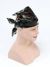 Fancy Dress Green Camouflage Camo Army Bandanna Hat Neckerchief