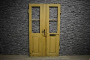 Traumhafte alte Antike Holztür Eingangstür Doppeltür Zweiflügel Tür 206 x 117