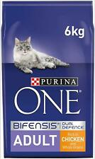 PURINA ONE 1+ Adult Dry Cat Food Chicken & Wholegrains 6Kg, Cats Feeding Natural