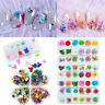 Real Dry Dried Flowers 3D Nail Art DIY Tips Manicure UV Gel Nail Decor 12 Colors