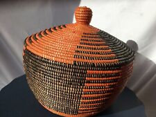 Lovely Ethnic Lidded Storage Basket