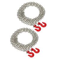 Crochet et chaîne à métaux 2x pour 1/10 D90 Axial SCX10 RC Rock Crawler