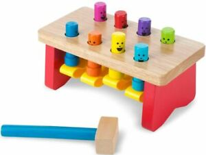 Melissa & Doug DELUXE POUNDING BENCH Colourful Wooden Children's Toy Gift 2 yrs+