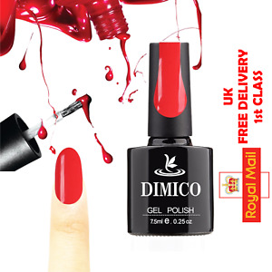 DIMICO Gel Nail Polish UV LED Soak Off Base Top Coat Art Design 70 Colours 7.5ml