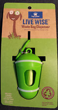 NEW! Green Dog Walk Bag Dispenser with leash clip and 15 Unscented Bags