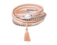 Tamaris Phoeby Leather Bracelet Armband Accessoire Gold / Gold Metallic Gold Neu