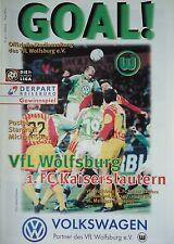 Programm 1997/98 VfL Wolfsburg - FC Kaiserslautern