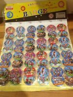 10 x PAW PATROL PIN BADGES Party Bag Fillers Birthday party favours, games