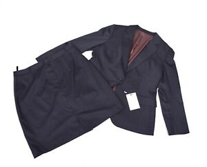 745 new SUIT SUPPLY Skirt & Blazer Suit Business Outfit FINE WOOL mix sz 44 46
