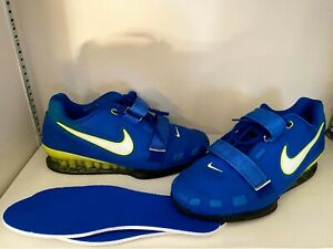 Nike Romaleos 2 Men's Weightlifting Shoes Size Lifting Powerlifting Blue US 10