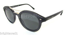 Authentic GIORGIO ARMANI Matte Grey Round Sunglasses AR 8007 - 5015R5 *NEW* 48mm