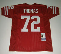 WISCONSIN Joe Thomas signed custom red jersey w/ #72 JSA COA AUTO Autographed