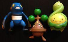 3 X JAKKs Pokemon Figures Croagunk Bonsly Budew 2007 RARE - Save £2 Multi-buy