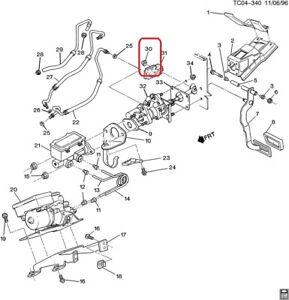 ( 1 ) GENUINE GM 15705042 RETAINER - Brake Master Cylinder Adjusting