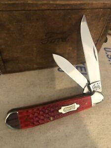 CASE XX 2001 COPPERHEAD 6249 RED BONE BOWTIE SHIELD POCKET KNIFE