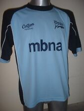 Sale sharks shirt jersey adulte petit Rugby Union Premiership COTTON TRADERS sky