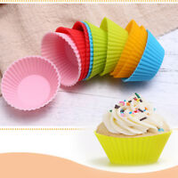 6/12pcs Reusable Silicone Muffin Cases Baking Cupcake Cake Cup DIY Pastry Tools/