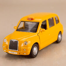2012 London Taxi Geely Englon TX4 Yellow Model Car 1:36 Scale 12cm Pull Back