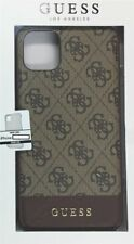 Guess 4g Hard Case bottom Stripe iPhone 11 marrón Cover Funda protectora