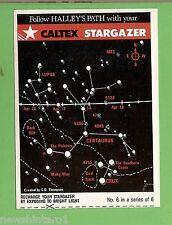 #D176.  1986  CALTEX STARGAZER HALLEY'S COMET CARD #6 of 6