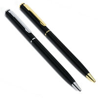School Gold Pen Office Ballpoint Writing Pens Stationery Study Supplies Black C