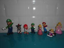 Lot Figurines Figure Mario wario kart peach luigi nintendo et Sonic Sega