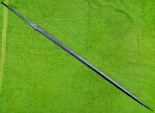 "CUSTOM DAMASCUS STEEL HUNTING KNIFE / RAPIER SWORD BLANK BLADE / DAGGER /36""Long"