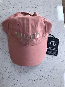 BRAND NEW HOLLISTER PINK BASEBALL CAP