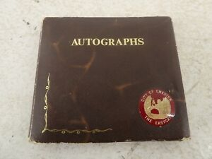 Autograph Book 1/ Politicians Autographs - Edward Heath/William Whitelaw Ect F18
