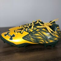Under Armour Mens Cleats Size 12 Nitro Low MC Green Yellow 1270433