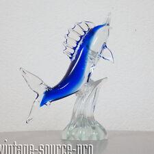 edler großer Murano Glas Fisch Schwertfisch Blau 30 cm 2,1 Kilo Retro 60er Jahre