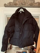 "ZARA MAN BLACK PUFFA HOOD JACKET COAT SIZE S 38"" Chest"